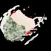 Stofmundbind med grønt blomsterprint