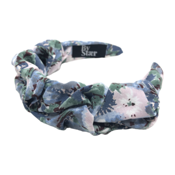 Produktbillede af bella hårbøjle med blomster blår mix