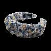 produktbillede af bella hårbøjle med bloster i hvid og blå
