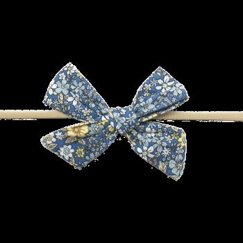 Gry hårbånd i blåt & gult blomstermix