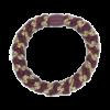 produkt billede af braided hairtie i bordeaux og brunt
