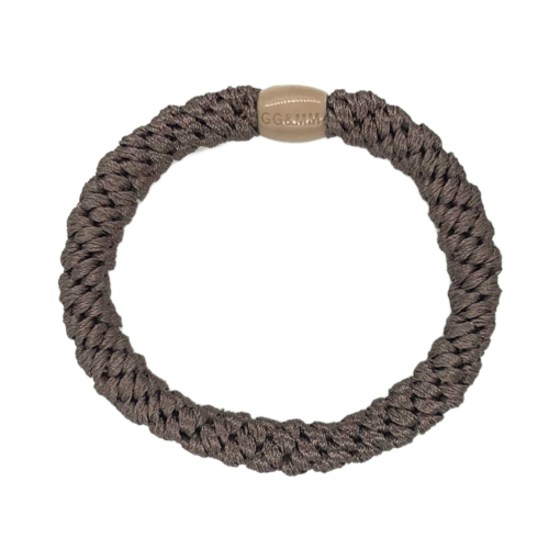 Produktbillede af braided hairtie i earth brown