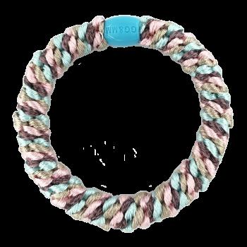 By Stær Hårelastik i lyseblå, lyserød, beige og lilla med glitter