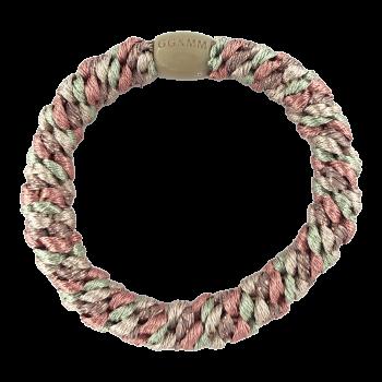 By Stær Hårelastik i rosa, mint og beige med glitter