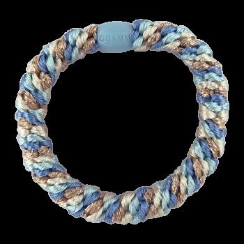 By STær Hårelastik i blå, råhvid og glitter