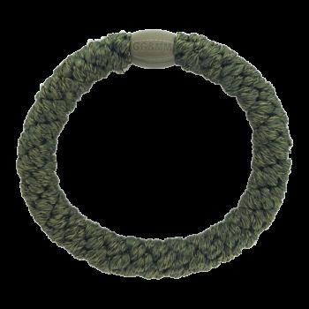 mørkegrøn hairtie med perle