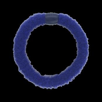 fluffy hairtie blåbær blå med perle