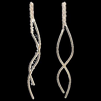 Katja øreringe i 18k guld