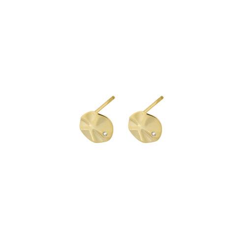 Diana øreringe i guld med én sten
