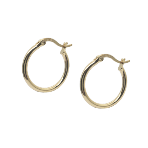 nicoline hoops øreringe i 18k guld