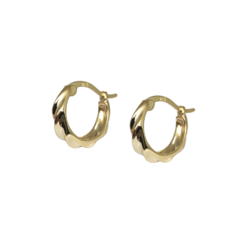 angie hoops øreringe i 18k. guld