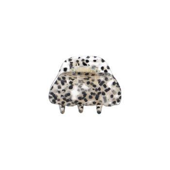 Lille Anne hårklemme i gennemsigtig leopard