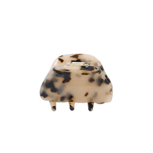 Lille Anne hårklemme i lys leopard