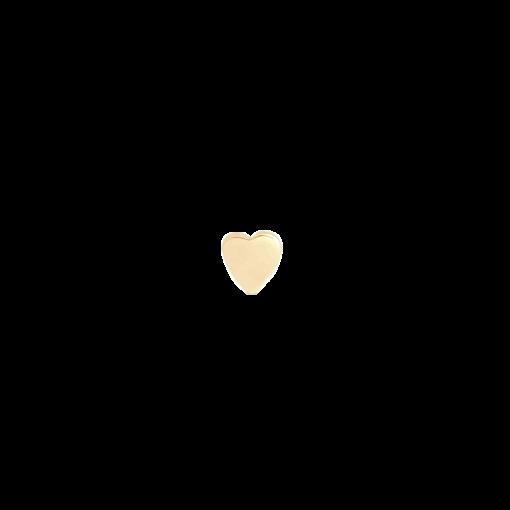 Beate ørering med guldbelagt lille hjerte