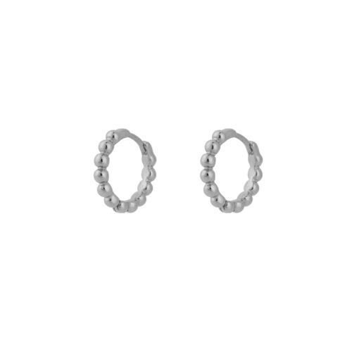 Dot hoops øreringe i sølv