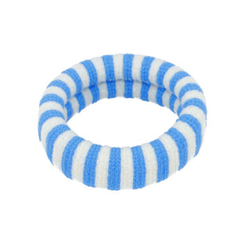 Ea Hårelastik i hvide og blå striber