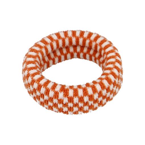 Ea kraftigt og enkelt hårelastik i Ternet Orange