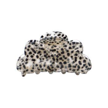 Mellemstor Fenja Hårklemme i klar leopardprint
