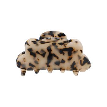 Mellemstor Fenja Hårklemme i Lys Leopard
