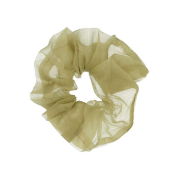 big scrunchie hårelastik i Army Green