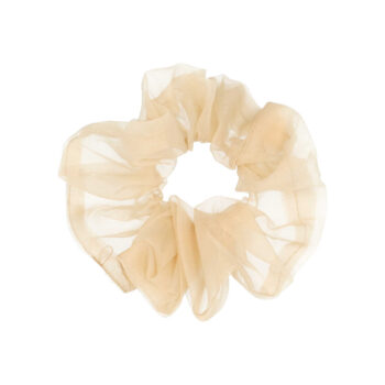 big scrunchie hårelastik i latte