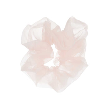 big scrunchie hårelastik i pastel rosa