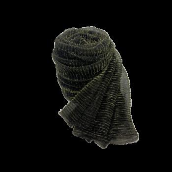 Nila tørklæde i sort med guldglimmer