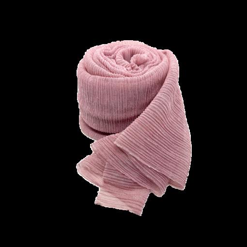 Nila tørklæde i pudder med rosaglimmer