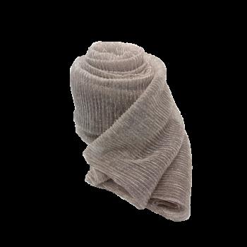 Nila tørklæde i beige med sølvglimmer