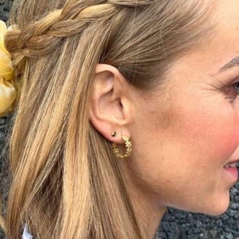 Frida hoop ørering guld