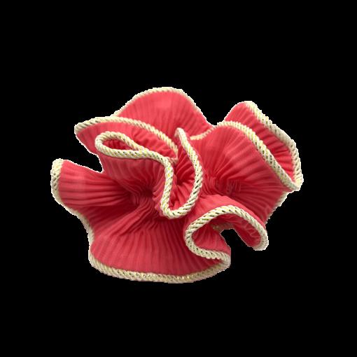 Lilje scrunchie i intens pink