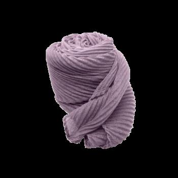 Nila tørklæde i lilla med strukturmønster