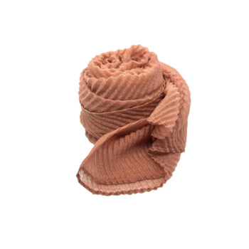 Nila tørklæde i rosa med strukturmønster