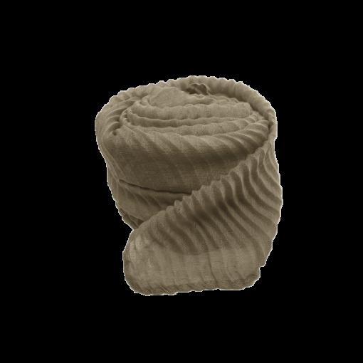 Nila tørklæde i sand med strukturmønster