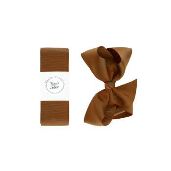 Dåbsbånd med sløjfe - Golden Brown