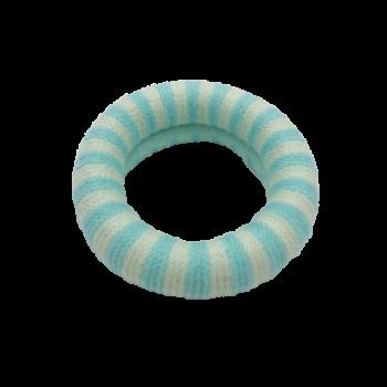 Ea Hårelastik Stripet Babyblå