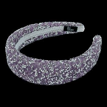 Lin Hårbøjle i glimmer lilla og sølv