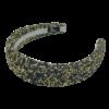 Lin Hårbøjle med glimmer i sort og guld