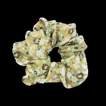 Scrunchie - Blomster Pastel Grøn