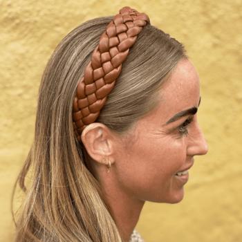 Crista Hårbøjle Mørkebrun flet