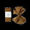 Dåbsbånd med sløjfe i satin - Golden Brown