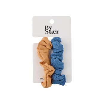 Kira Scrunchie – 2-pak – Orange:Blå Mix