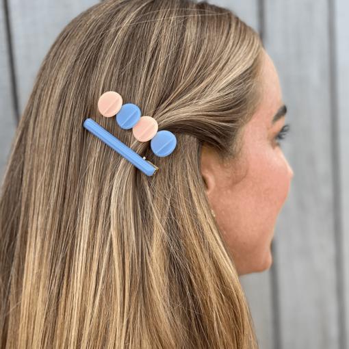 nicole hårclips-blå
