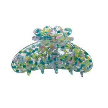 ASTA hårklemme - Splash Blå:Grøn mix