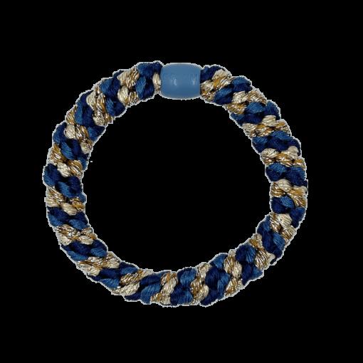 ByStær Hairties - Multi Blå:Guld glitter