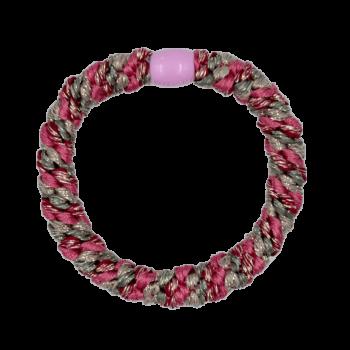 ByStær Hairties - Multi Glitter Pink:Grå