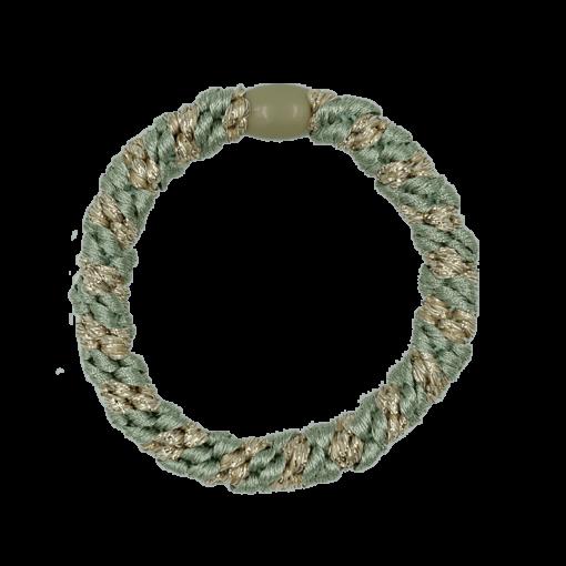 ByStær Hairties - Multi Grøn:Guld glitter